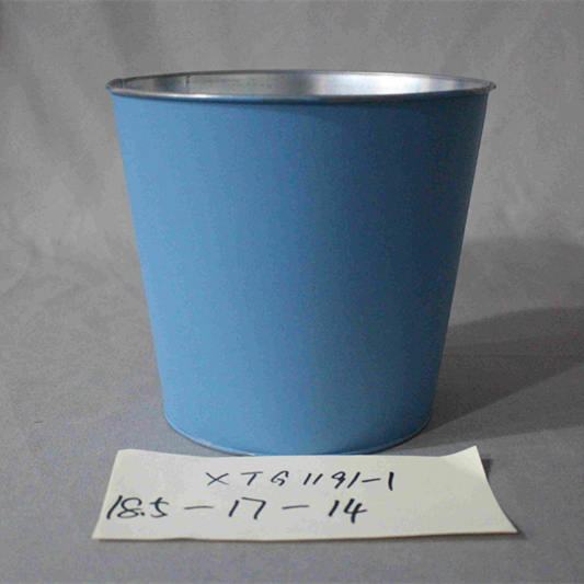 blue zinc flower pot