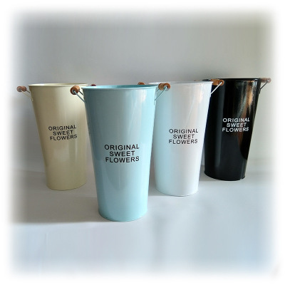 zinc buckets in four colors with two handles