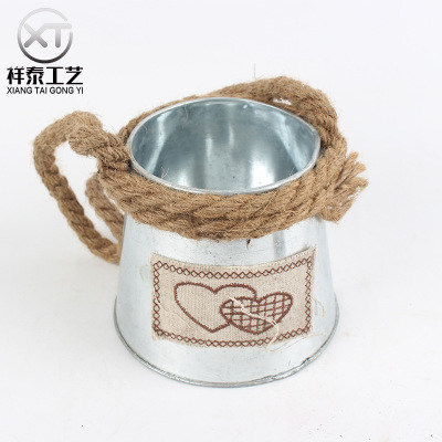 simple sticket zinc jug with rope handle